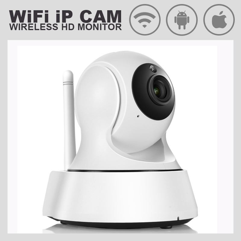WiFi IP Camera 720P HD Smart Network Wireless Video CAM CCTV Security Camera Two Way Talk Infrared Night Vision Home Camera camera security home hd wireless network smart phone remote wifi night vision security monitoring