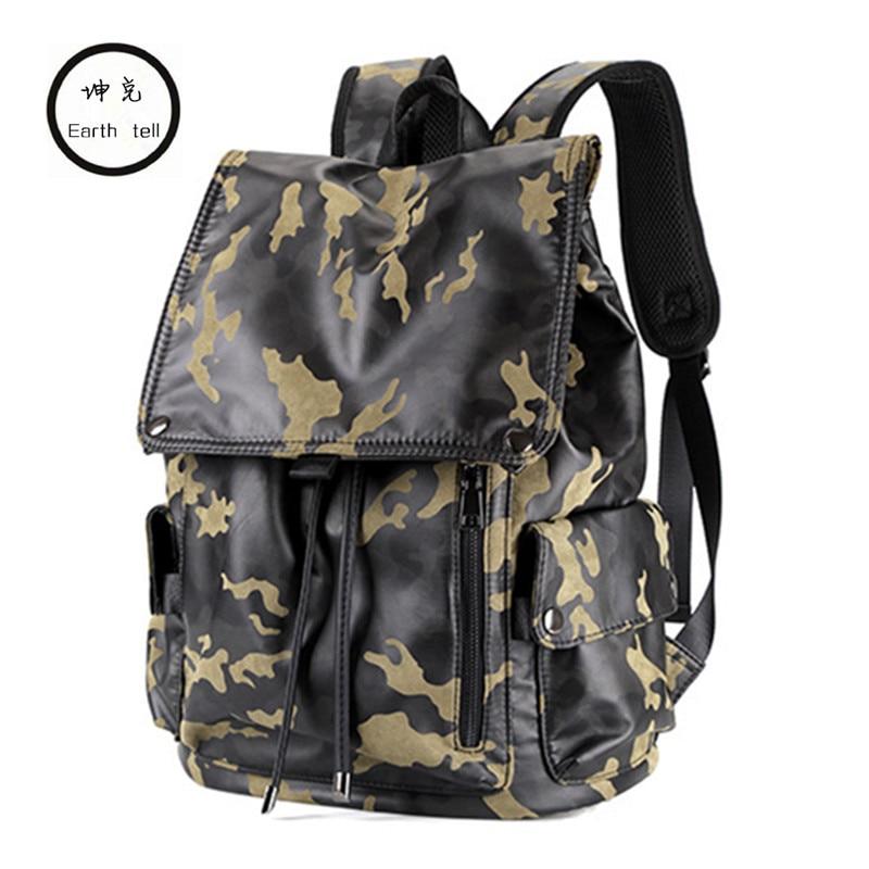 Earth tell Camouflage Backpack Computer Travel Bag Shoulders Waterproof Laptop Backpacks for Men Woman Children School Bags earth tell черный medium43x33x105cm
