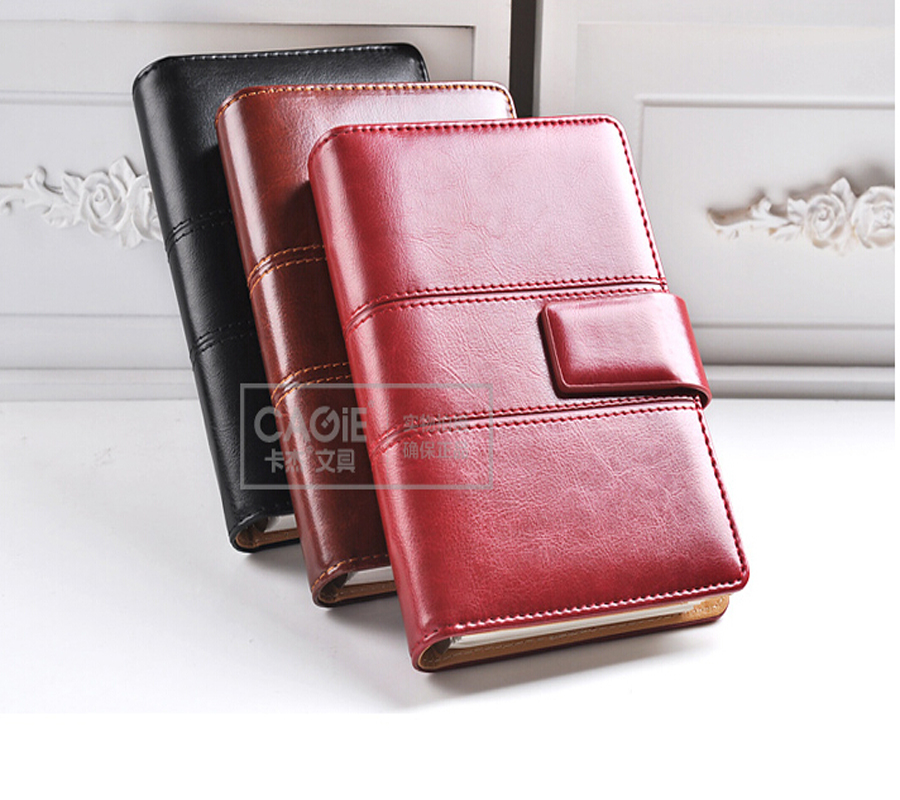 CAGIE Business Creative Spiral Notebook Vintage Pu Leather Men Women Personal Diary Planner Notepad Filofax Office