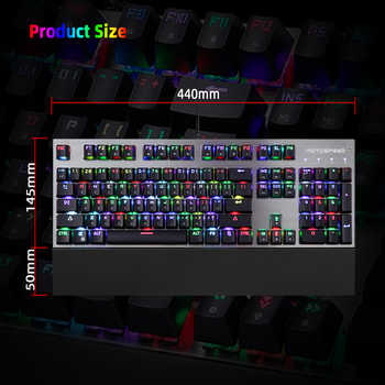 Original authentic Motospeed CK108 Gaming Mechanical Keyboard RGB Backlit LED Anti-Ghosting Blue Switch Wired Keyboard for gamer