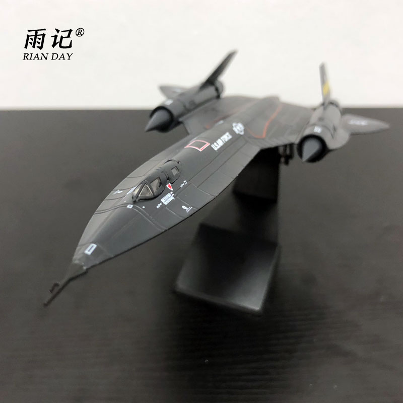 AMER 1/144 Airplane Model Toys SR-71 Blackbird Surveillance Fighter Diecast Metal Plane Model Toy For Gift/Collection/Kids цена