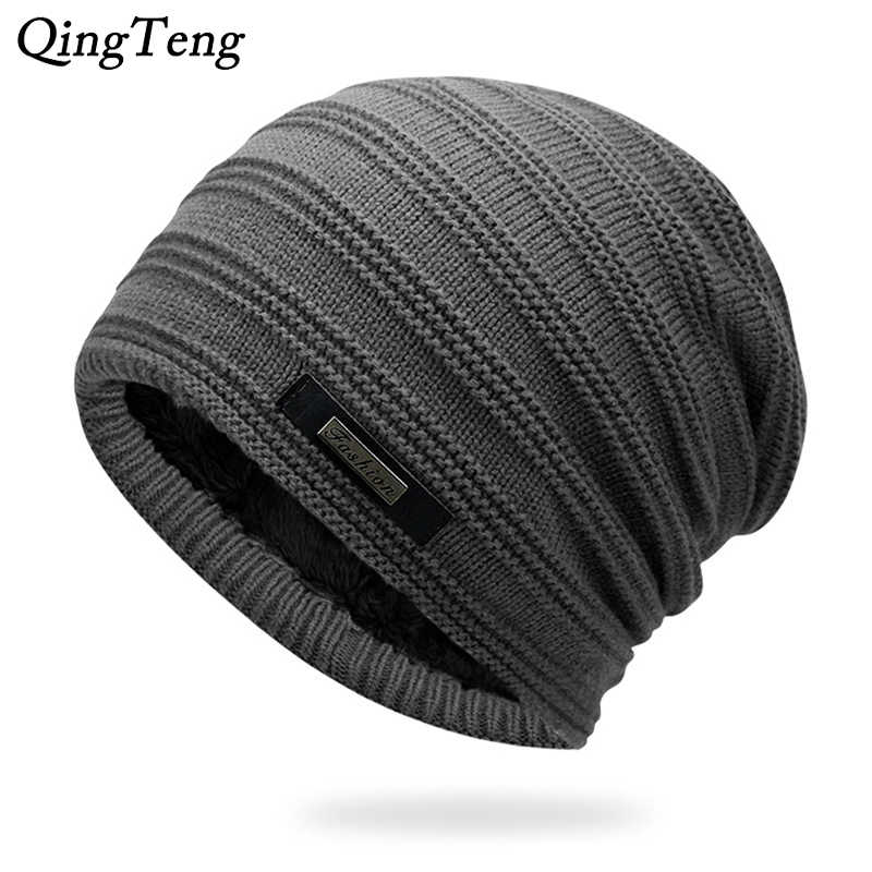 d876777767b Detail Feedback Questions about Gray Double Layer Acrylic Velvet Beanie Hat  Winter Warm Male Knitted Caps Outdoor Sports Ski Cap Female Bonnet Stocking  Hats ...