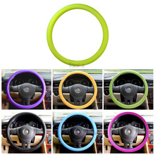New Soft Silicone Steering Wheel Cover Shell Skidproof Odorless Eco Friendly For Mercedes Benz Audi Citroen Mazda Buick VW Kia