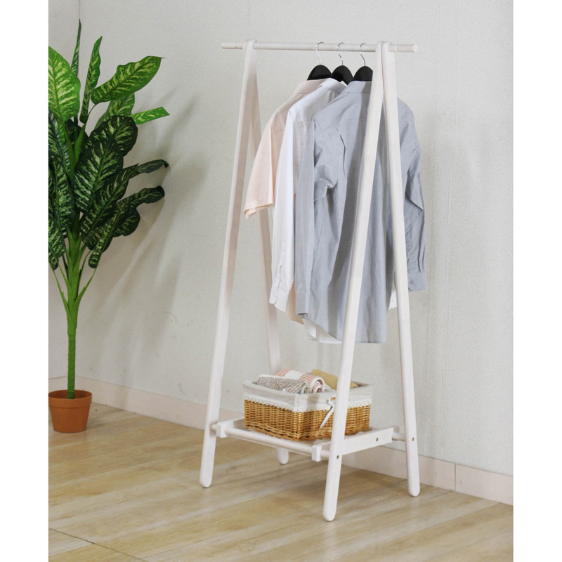 Yi Creative Home Floor Wood Coat Rack Hangers Clothes Rack Bedroom - Creative clothes racks