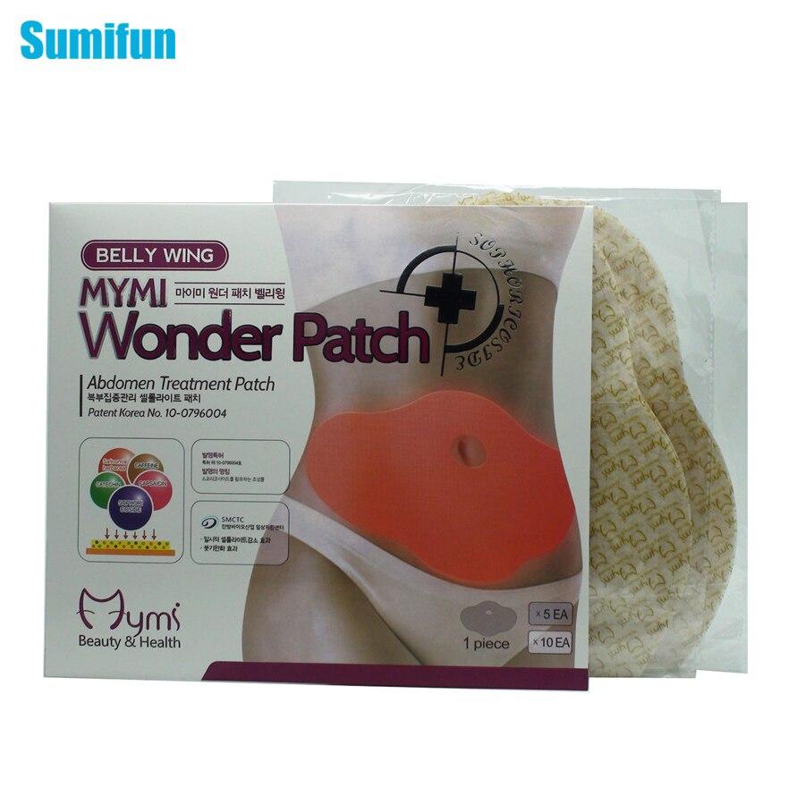 10Pcs MYMI Wonder Slimming Patch Belly Abdomen Weight Loss ...