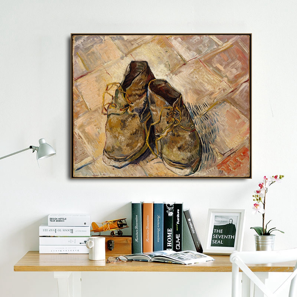 Leather Shoes by Vincent Van Gogh Posters and Print Canvas Painting Calligraphy Wall Pictures for Living Room Bedroom Home Decor in Painting Calligraphy from Home Garden