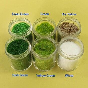 60 г/120 г Смешанные шесть цветов 3 мм трава порошок флок клей нейлон трава порошок Модель Строительный Материал CFA5
