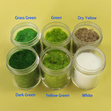 60g 120g Mixed Six Colors 3mm Grass Powder Flock Adhesive Nylon Grass Powder Model Building Material CFA5 cheap 14 years old 1 87 CN(Origin) Do not eat Unisex