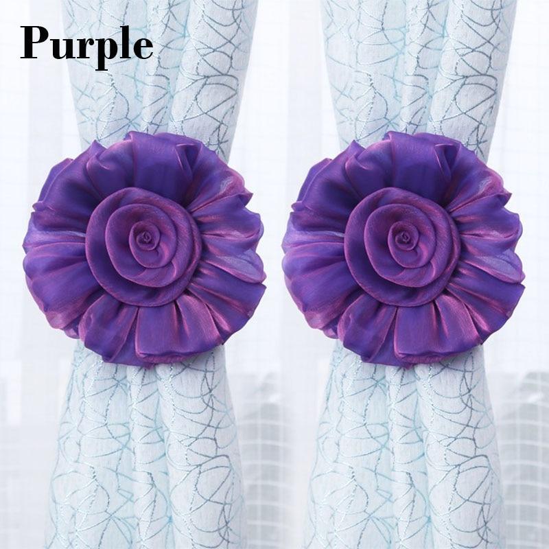 Curtain tassel tieback romantic modern flower style tassel holder for - Home Decor
