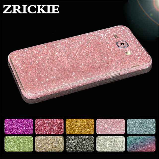 For Samsung J7 Prime Cover Full Body Glitter Vinyl Sticker Phone Decal for  Samsung Galaxy J7 J5 J3 2016 2017 Case Sparkly Decals 435f6115dc5a