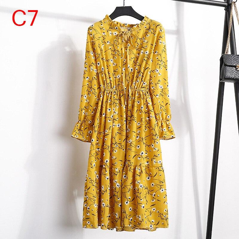 Korean Black Shirt Vestidos Office Polka Dot Vintage Autumn Dresses Women Winter Dress 19 Midi Floral Long Sleeve Dress Female 102