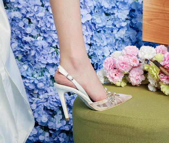 Femme Feamle As Sexy Pointu Stiletto Hauts Showed Bout Robe Chaîne Blanc Dentelle Color À Talons Chaussures Décor Perle as Color Mariage De Pompes rZrqUS