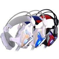 Casque Gaming Headset Headphones Rose Gold Kotion Each G3100 Over Ear Head Phones Cheapest Earphones LED