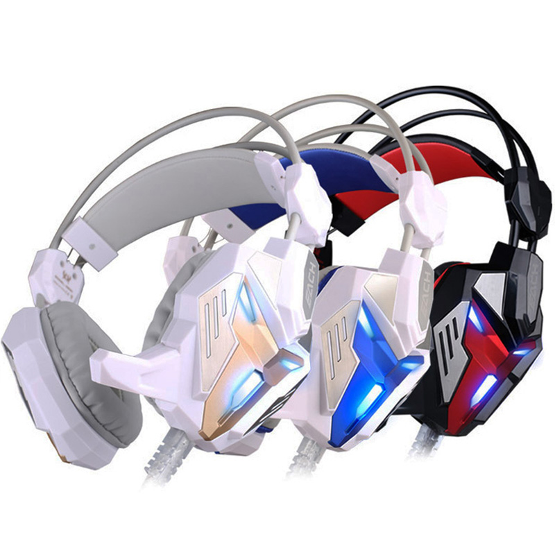 Gaming Headphone casque Kotion EACH G3100 Best Computer Stereo Deep Bass Game Earphone Headset with Mic LED Light for PC Gamer купить в Москве 2019