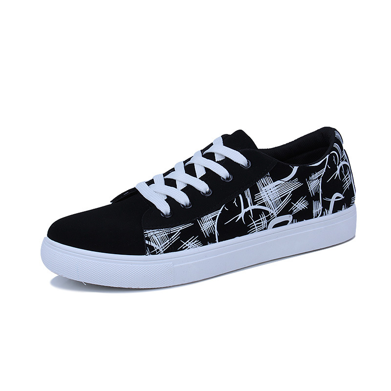 New Men's Vulcanized Shoes Four Seasons Can Wear Fashion Students Flat Leisure Lofo Shoes Shallow Mouth Rubber Bottom