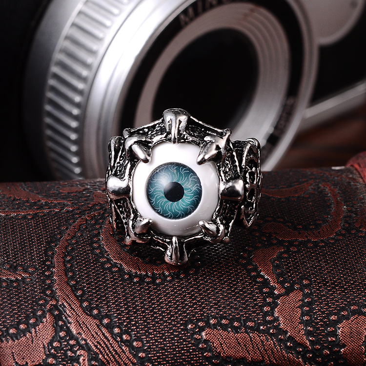 Punk Eyes Claw Biker Gothic Ring Taille 8 8 10 10 11 J026 de femmes - Bijoux fantaisie - Photo 3