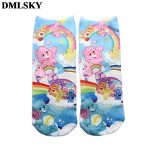 DMLSKY Cartoon Funny The Care Bears Socks Women Men Fashion 3D Printed Cotton breathable stockings M3665