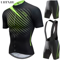 Uhtxhu 2019 Cycling Clothing Men Summer Bike Bicycle Jerseys Clothes Breathable Short Sleeve Cycling Set/Kit/Suit