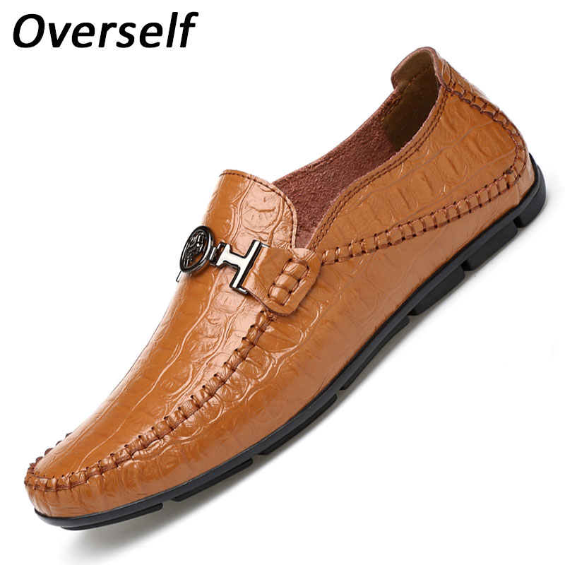 Mocassin Loafers Genuine Leather Handmade Stitching Luxurious Flats Men's Banquet Boat Shoes Summer Men Casual Shoes Driving men s genuine leather casual shoes handmade loafers for male men waterproof flat driving shoes flats