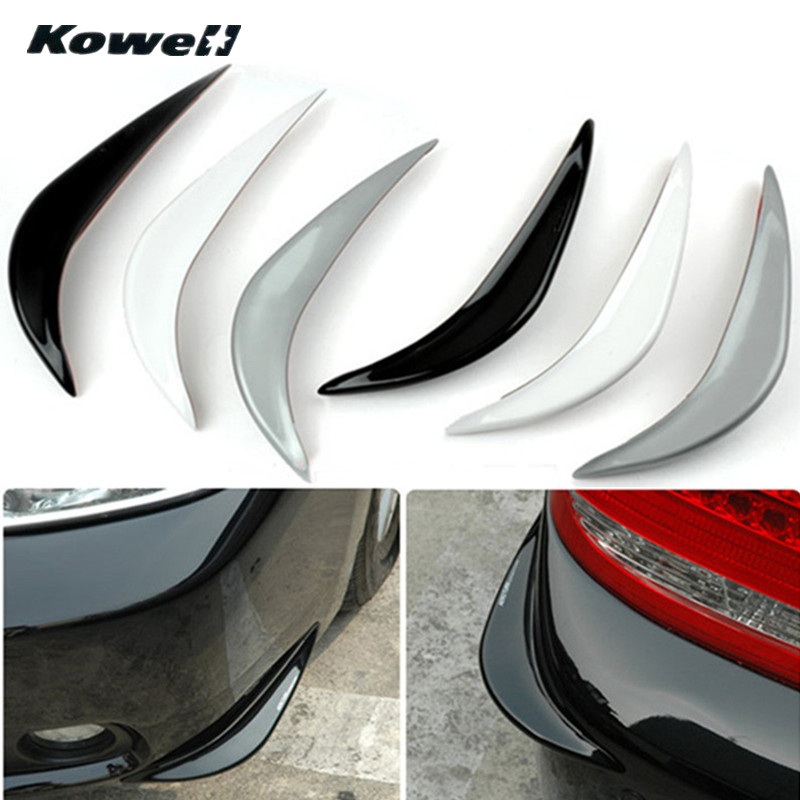 KOWELL Luxury Front Tail Universal Car Auto Vehicle Bumper Corner Protector Lip Guard Styling Mouldings for Lada for Volkswagen