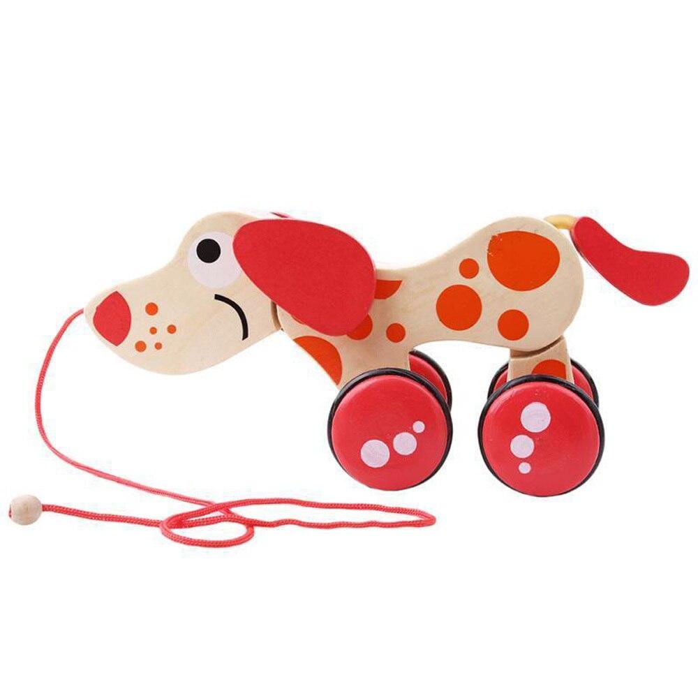 Beminnelijk Model Building Kits Krokodil Houten Speelgoed Tractor Hond Dier Cartoon Kinderen Crooked Tractoren Geschenken Baby Jongens Puzzel Blokken Jongen