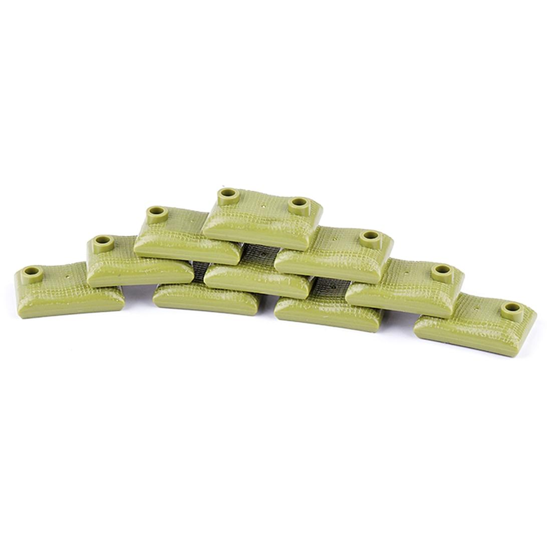 10 шт военные войны тема DIY маленькие частицы строительный блок земляные мешки модель головоломка игрушка для строительных блоков брендов-темно-коричневый - Цвет: 2722928