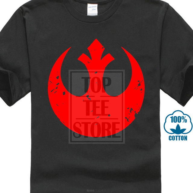 b236c8c535a25 US $8.79 12% OFF|Retro Tshirt Men Red Rebel Alliance Logo Graphic Simple T  Shirts Customized Personalized Tops T Shirt Streetwear Star Wars-in ...
