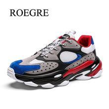 2019 חדש אבא נעלי גברים שמנמן סניקרס באיכות עור Mesh טלאים גברים נעליים יומיומיות נוח שחור פנאי גברים נעלי 45