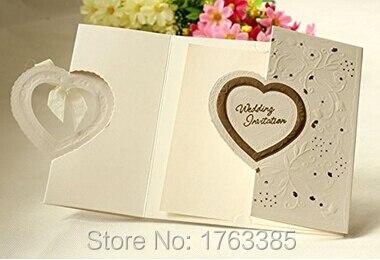 Interlocking hearts wedding invitations