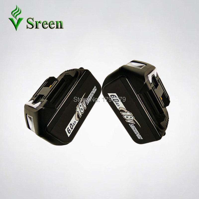 2PCS BL1860 6000mAh Rechargeable Lithium Ion Replacement for Makita 18V BL1840 LXT400 194205-3 BL1850 BL1830 Power Tool Battery 18v 6000mah rechargeable battery built in sony 18650 vtc6 li ion batteries replacement power tool battery for makita bl1860