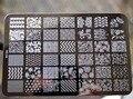 2017 NUEVO 14.5*9.5 CM HK Gran Nail Art Sello de Imagen Plate Raspador Plantillas DIY Nail Polish Art Manucure herramientas HK-04, envío libre