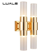 Fashion Wall Lamp Modern LED Wall Light Creative Glass Lampshade Wall sconce For Hotel Villa Is Luxurious Wall Sconces Lighting