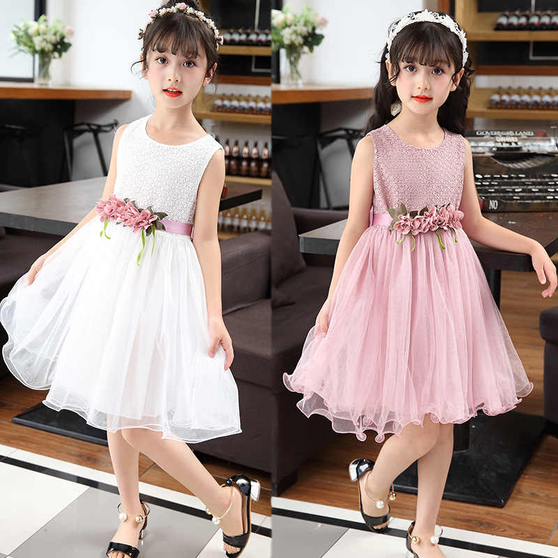 30d22d6746c9a 2018 summer kids big girl chiffon dress lace little girls party dress kids  elegant dresses size age for 3456789 10 11 to 12years