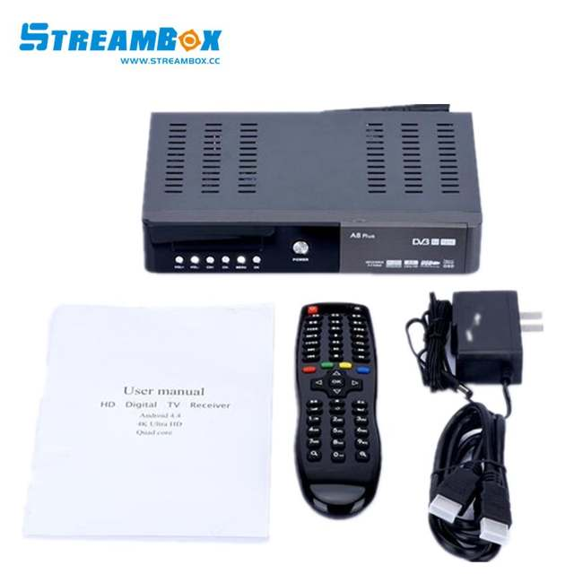 US $125 0 |free subscription for singapore channels A8 PLUS TV BOX/Combo  DVB S2 DVB T2+C(HD) wifi open box Satellite Receiver kodi -in Set-top Boxes