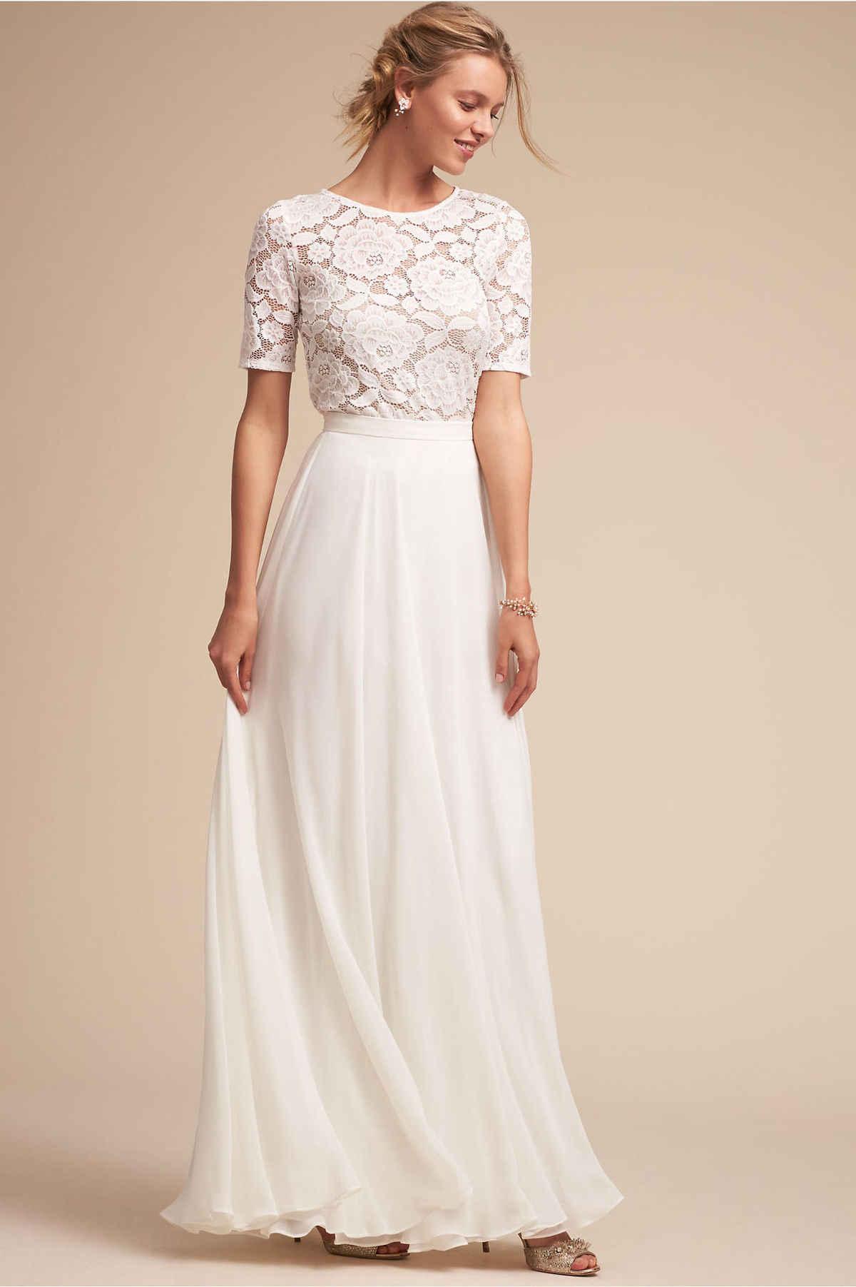 Backlakegirls Elegant Evening Dress White Lace Short Sleeve Appliques  Choffon 2018 Hot Sale For Party Women 3488f2421c16