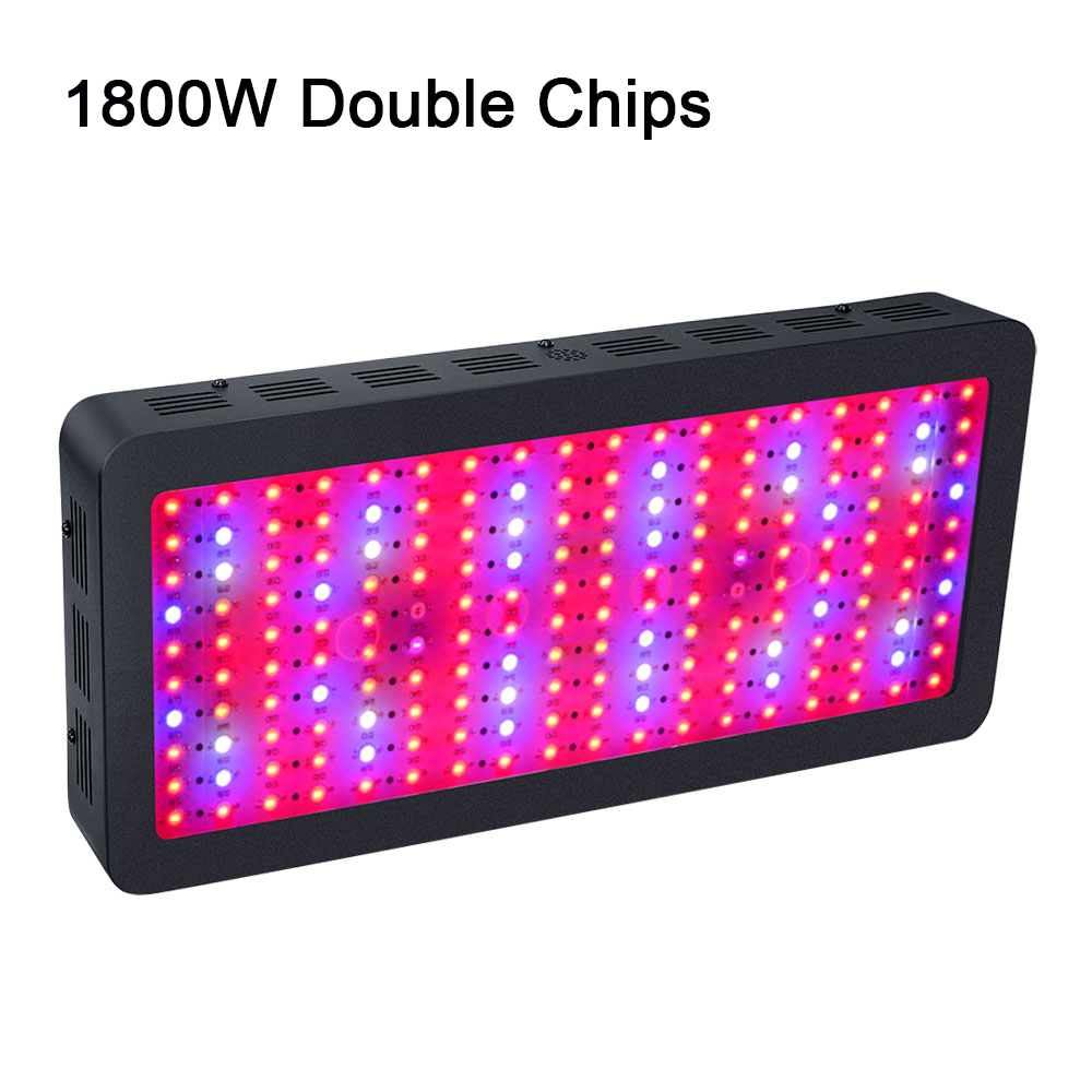 1 pcs 1800W LED Grow Light Double Chip Full Spectrum LED Lamp for Indoor Garden Growing Plants Aquarium Greenhouse Hydroponic led grow light lamp for plants agriculture aquarium garden horticulture and hydroponics grow bloom 120w 85 265v high power