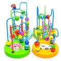 Wooden Children Educational Mini Around Beads Colorful Game Toy Hot Baby