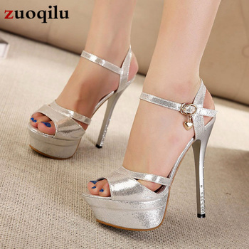 2020 Sexy High Heels Shoes Women Pumps Peep Toe Platform Heels Women Shoes Party Rhinestone Buckle Strap Wedding Shoes Woman new arrival women italian african party pumps shoes and bag set decorated with rhinestone matching shoes and bag set in heels