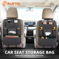 Partol 1pc universel siège de voiture sac de rangement organisateur Auto noir/gris/Beige organiser siège sac arrière boissons/tissu/Pad conteneur