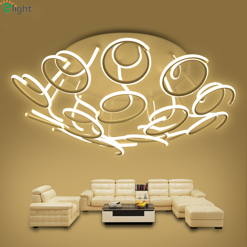 Nordic Floral Aluminum Led Ceiling Chandeliers Lamp Lustre Acrylic - Indoor Lighting