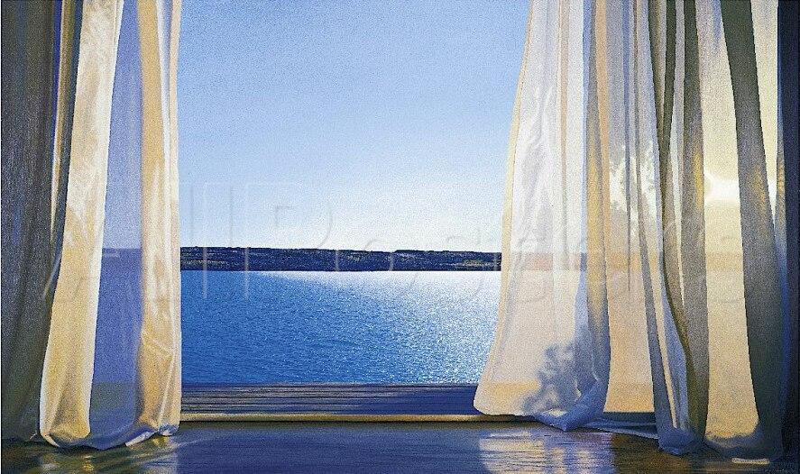 Paysage peinture longue journée d'or par Alice Dalton brun peinture haute qualité Photo sur toile paysage peint à la main