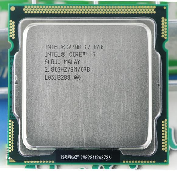 INTEL i7 860 i7-860 intel core i7 860 CPU i7 processor (Quad Core CPU 2.80GHz 8MB Sockel 1156 95W) Processor warranty 1 year wavelets processor