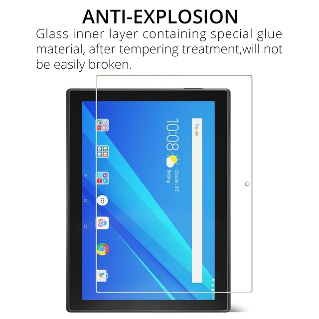 Tempered Glass Film Screen Protector for Lenovo Tab M10 TB-X605F E10 TB-X104F P10 TB-X705F 10.1 Tab 4 10 8 8504F 7.0 7504F E8 E7 3