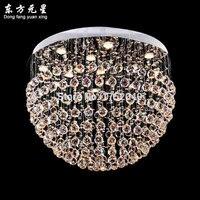 Kristal avize lamba yuvarlak şekil büyük kristal aydınlatma led ışık kaynağı ev dekorasyon için