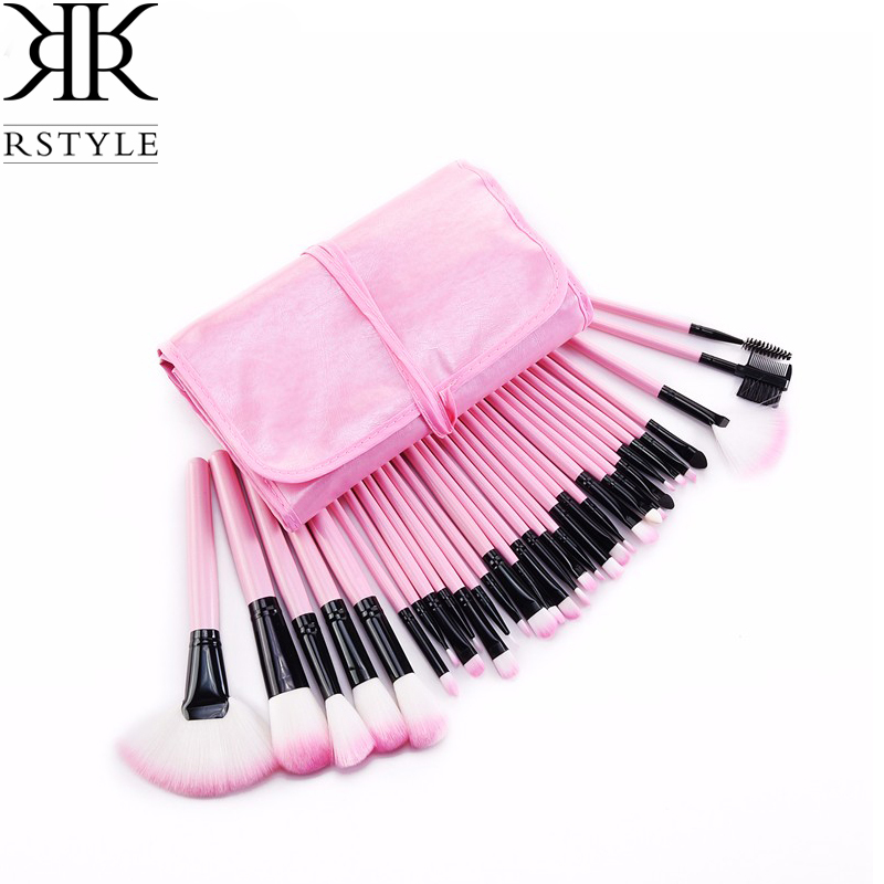 RSTYLE Professional Makeup Brushes 32 Pcs/Sets Eye Shadow Foundation Eyebrow Lip Brush Comestic Tool Make Up Eye Brushes 9pcs set professional foundation concealer makeup brushes marbling handle eye shadow eyebrow lip eye make up brush comestic tool