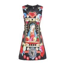 New 2019 summer diamonds jacquard dress Fashion womens sleeveless A line A186
