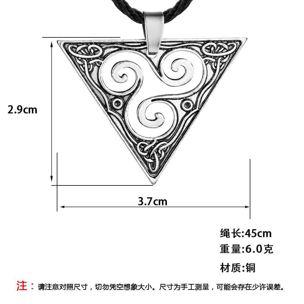 Chandler Viking Valknut wisiorek naszyjnik dla kobiet mężczyzn Steampunk Punk Illuminati pogańskich religijnych tybetański Amulet egipski biżuteria