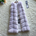 FF Brand Long Fur Vest Winter Women Luxury Faux Fox Fur Vest Furry Woman Fake Fur Vest Plus Size Faux Fur Custom Length Size