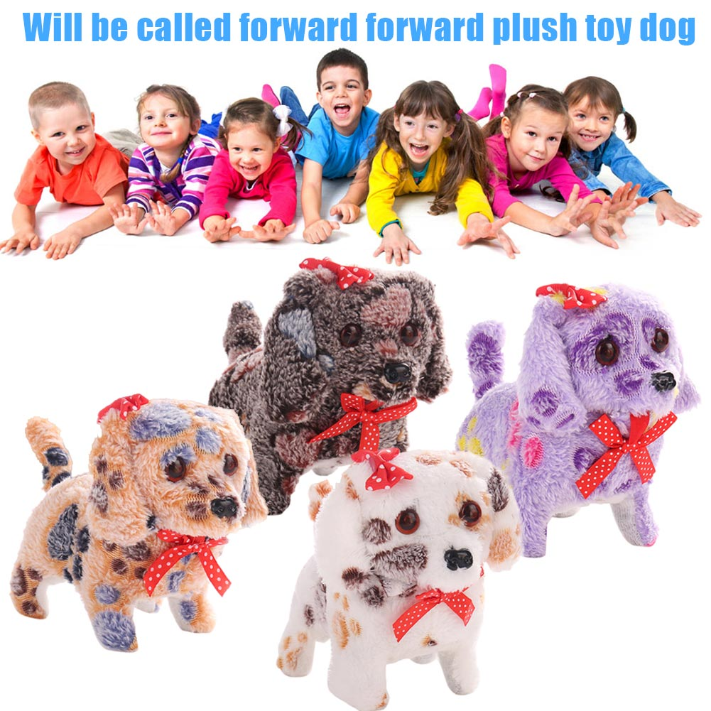 Cute Walking Barking Lighting Toy Dog Funny Electric Moving Dog Children Kids Toys AN88