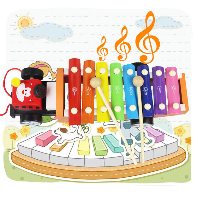 Hape Hand Knocking Piano Child Xylophone Baby Boy Toy 1
